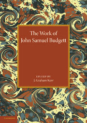The Work of John Samuel Budgett