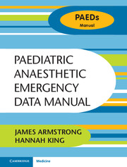 Paediatric Anaesthetic Emergency Data Manual