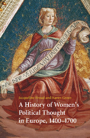 A History of Women's Political Thought in Europe, 1400–1700