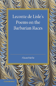 Leconte de Lisle's Poems on the Barbarian Races