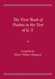 The First Book of Psalms in the Text of G.1.