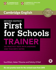 First for schools trainer first for schools trainer cambridge first for schools trainer six practice tests with answers and teachers notes with audio yelopaper Gallery