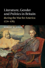 Literature, Gender and Politics in Britain during the War for America, 1770–1785