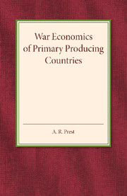 War Economics of Primary Producing Countries