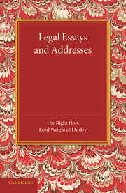 Legal Essays and Addresses