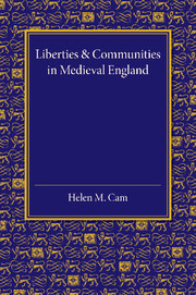 Liberties and Communities in Medieval England