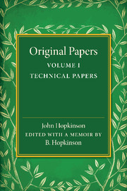 Original Papers of John Hopkinson