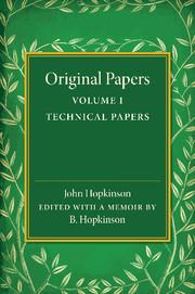 Original Papers of John Hopkinson