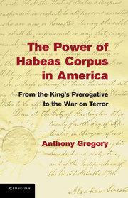 The Power of Habeas Corpus in America