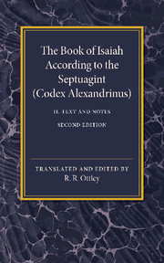 The Book of Isaiah According to the Septuagint