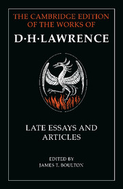 D. H. Lawrence: Late Essays and Articles