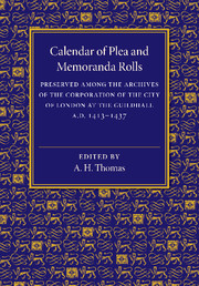 Calendar of Plea and Memoranda Rolls