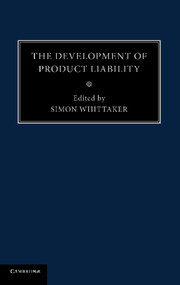 The Development of Product Liability