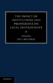 The Impact of Institutions and Professions on Legal Development