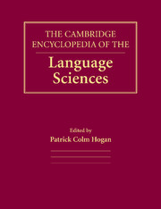The Cambridge Encyclopedia of the Language Sciences