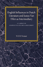 English Influences in Dutch Literature and Justus Van Effen as Intermediary