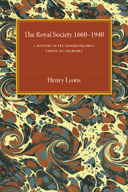 The Royal Society, 1660–1940