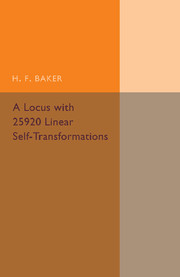 A Locus with 25920 Linear Self-Transformations
