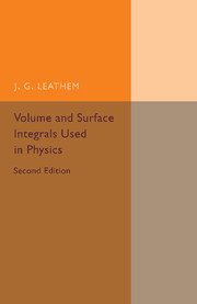 Volume and Surface Integrals Used in Physics