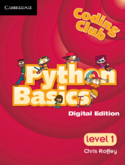 Coding Club Python Basics Level 1 Cambridge Elevate Enhanced Edition (1 Year) School Site Licence