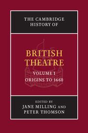 The Cambridge History of British Theatre