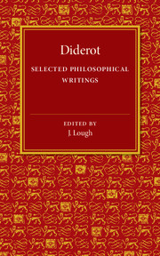 Diderot: Selected Philosophical Writings