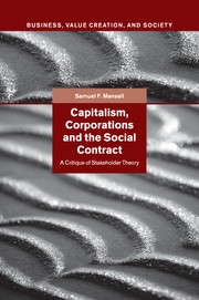 Capitalism, Corporations and the Social Contract