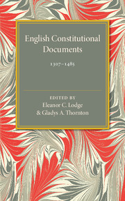 English Constitutional Documents, 1307–1485