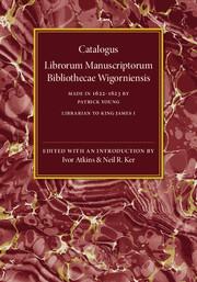Catalogus Librorum Manuscriptorum Bibliothecae Wigorniensis