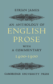 An Anthology of English Prose 1400–1900