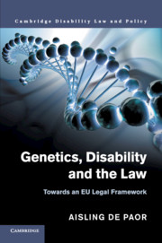 Genetics, Disability and the Law