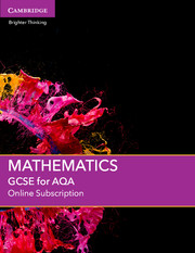 GCSE Mathematics for AQA Online Subscription (1 Year) School Site Licence