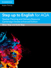 Step up to English for AQA Teacher Planning and Delivery Resource Cambridge Elevate Enhanced Edition (5 Years)