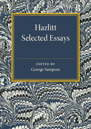 Hazlitt: Selected Essays
