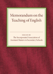 Memorandum on the Teaching of English