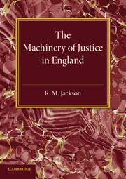 The Machinery of Justice in England