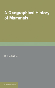 A Geographical History of Mammals