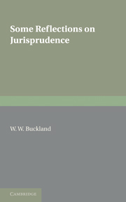 Some Reflections on Jurisprudence