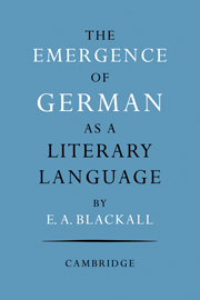 The Emergence of German as a Literary Language 1700–1775