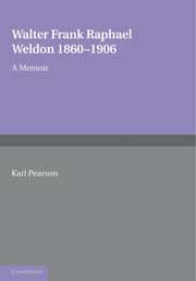 Walter Frank Raphael Weldon 1860–1906