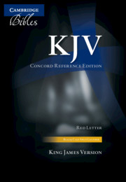 KJV Concord Reference Edition Black Calf Split Leather KJ563:XR