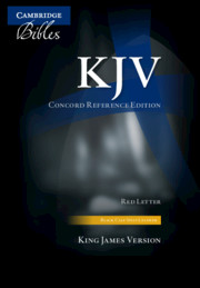 KJV Concord Reference Bible, Black Calfsplit Leather, Red Letter Text, Thumb Index KJ564:XRI