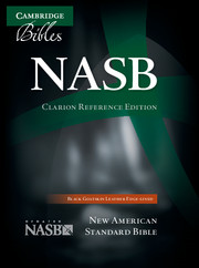 NASB Clarion Reference Bible NS486:XE Black Goatskin Leather
