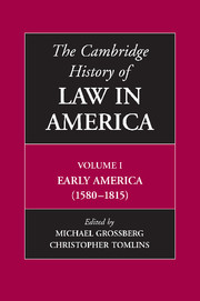 The Cambridge History of Law in America