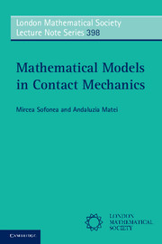 Mathematical Models in Contact Mechanics