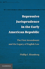 Repressive Jurisprudence in the Early American Republic