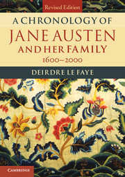 A Chronology of Jane Austen and her Family