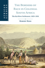 The Borders of Race in Colonial South Africa