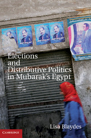 Elections and Distributive Politics in Mubarak's Egypt