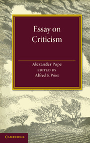 explanation of an essay on criticism